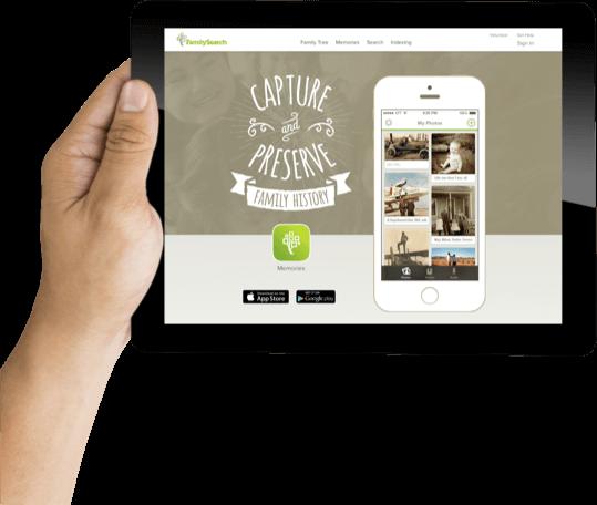 Memories App Webpage