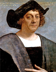 Posthumous portrait of Christopher Columbus by Sebastiano del Piombo. There are no known authentic portraits of Columbus.