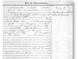 Italian Ancestors: Sample of Italian marriage record.