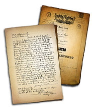 Example of Handwritten Family History Records