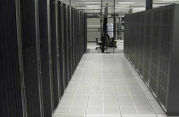 Photo of a room in a storage and data center.