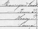 1870 U.S. Federal Census—Listed on line 7, living with daughter Laure.