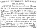 Reward notice for the return of Harriet Tubman and her two brothers, 1849