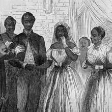 Freedmen's Bureau Project - Freedmen's Marriage Illustration