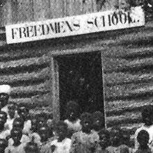 Freedmen's Bureau Project - In Front of a Freedmen's Schoolhouse