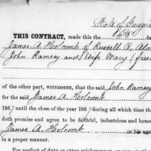 Freedmen's Bureau Project - Labor Contract