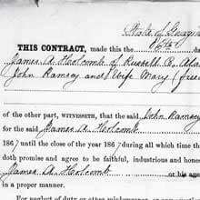Freedmen's Bureau Project - Labor Contract