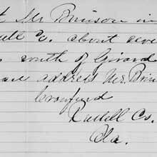 Freedmen's Bureau Project - Letter