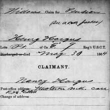 Freedmen's Bureau Project - Widow's Pension Claim