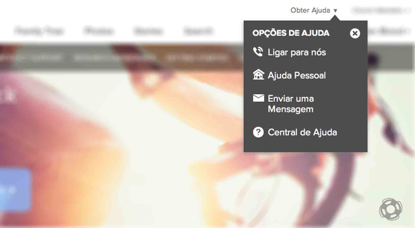 Recurso de Ajuda ao Vivo do FamilySearch